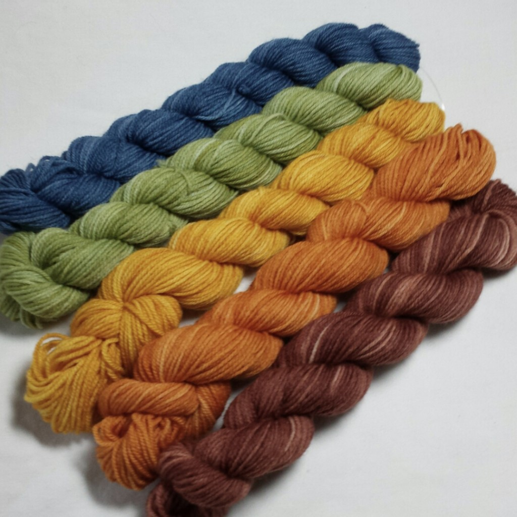 Yarn Geek Fibers: Rocketeer 5-Pack in Leaf on the Wind