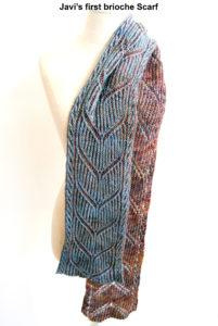 Javi's first brioche scarf