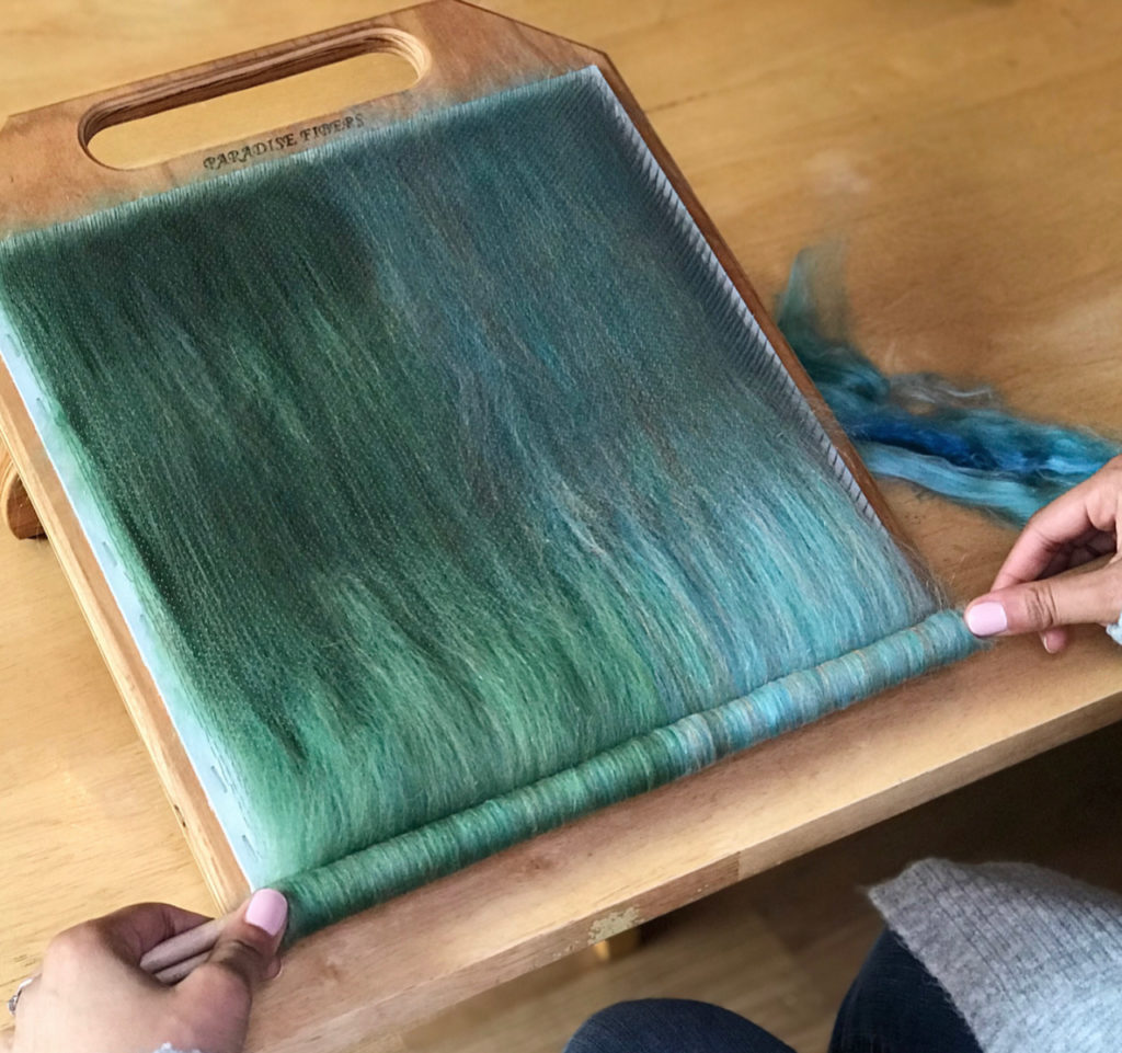 Blending Board with wool