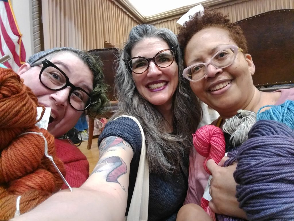 This is what YarnCon is about, great friends and great yarn! Lauren and Karen are two amazing volunteers and supporters of YarnCon, and wonderful people.